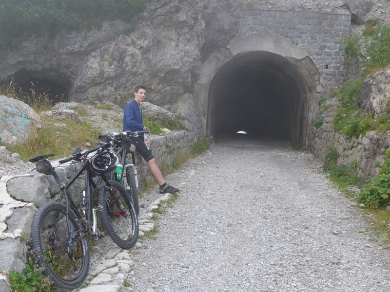 The highest Point: tunnel on Passo Tremalzo