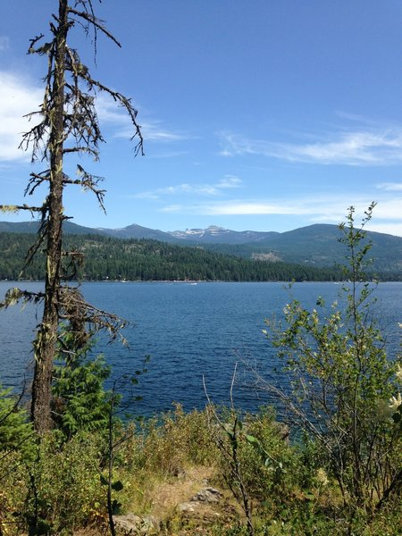 Looking out over Priest Lake. Chimney Rock in the background