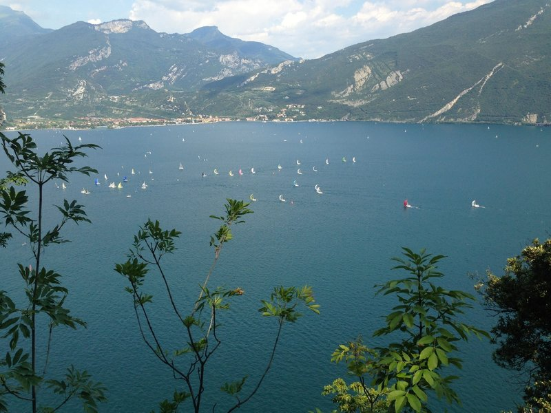 Overlooking Lago di Garda.