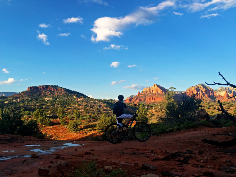 It doesn't get much better than riding at sunset in Sedona.