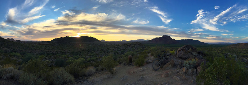 It doesn't get much better than biking at sunset...