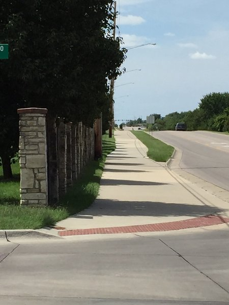 Nice wide path, just watch out for cars at the street crossings