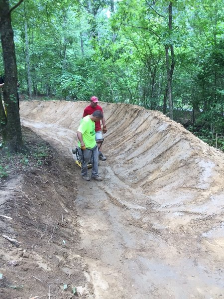 Thanks to the volunteers who helped build this trail!