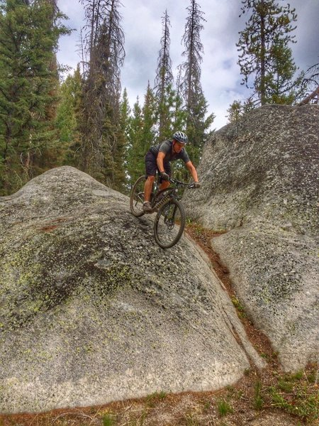 Some fun granite boulders to play around on.