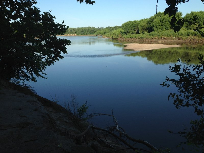 View of the Kaw along the route.