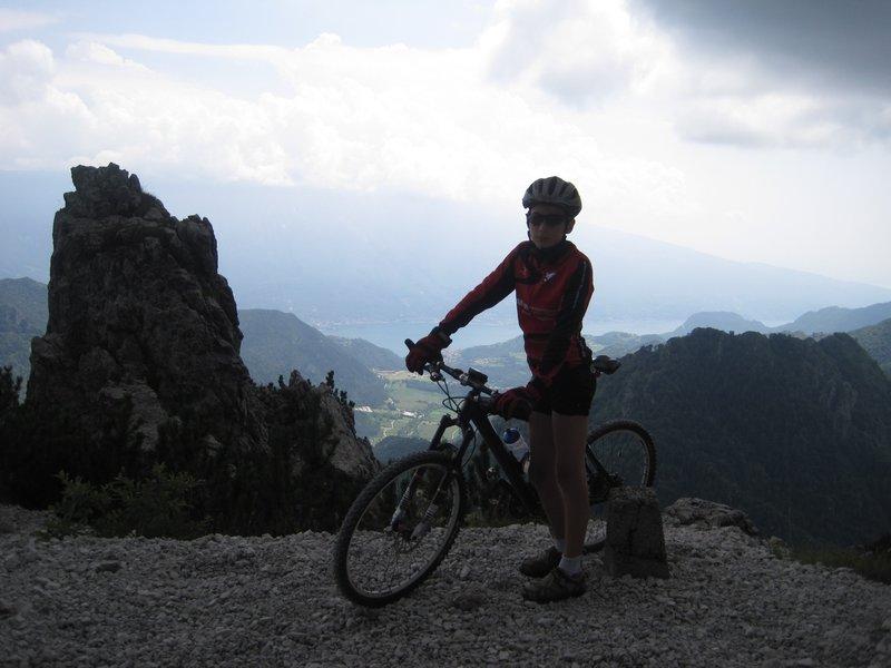View to Lago di Garda (Photo taken halfway between Passo Tremalzo and Passo Nota.)