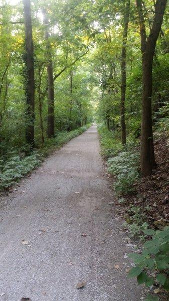 Wider gravel path