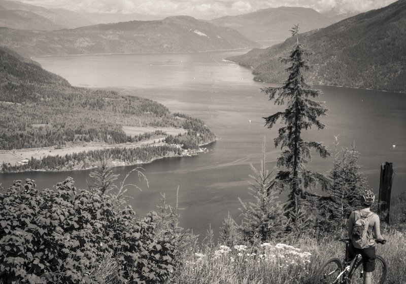 Views of Shuswap Lake along the route.