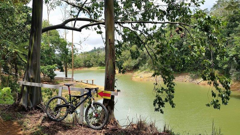 Lakeside at Hacienda Sabanera MTB trail