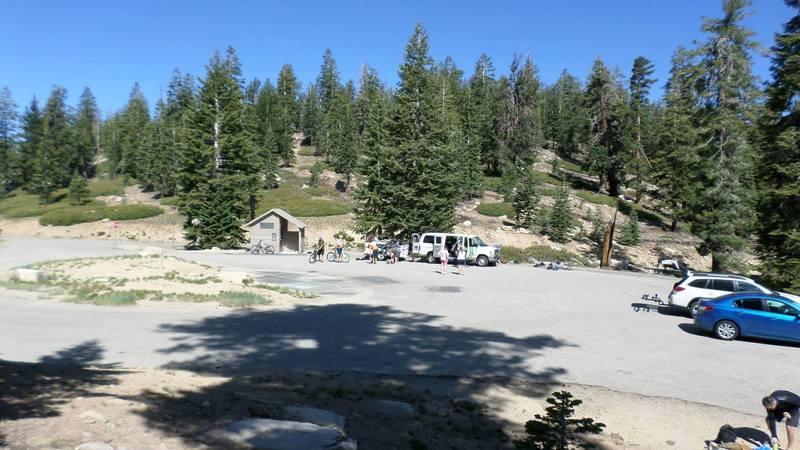 Parking lot at Sherman Pass
