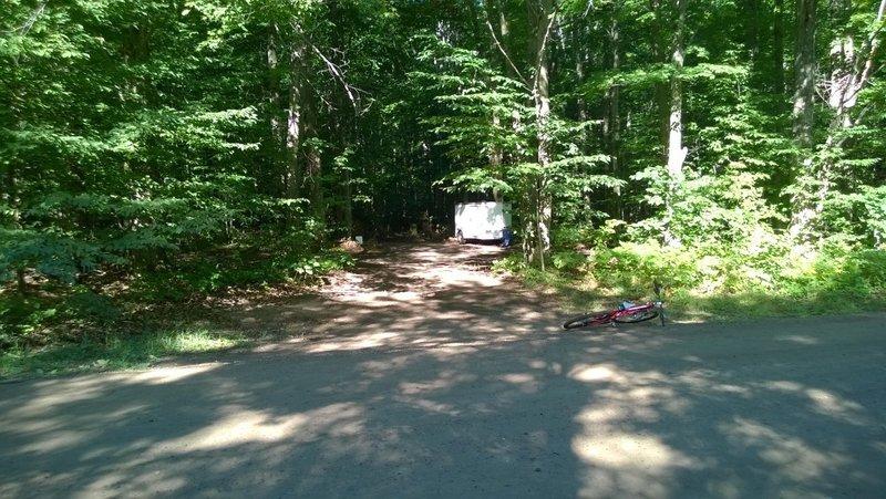 Trailhead parking area entrance