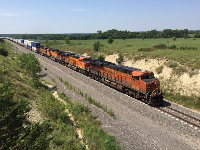 Freight trains every 15 minutes or so, a train watcher's paradise!