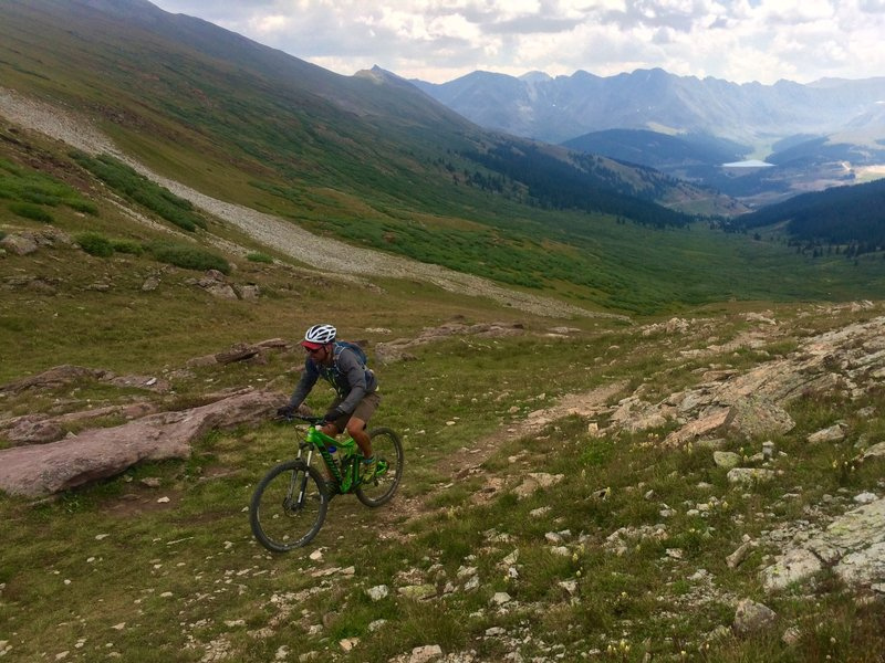 The final crank up Searle Pass