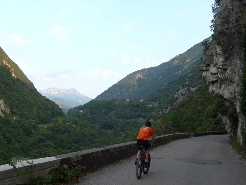 View from the Old Ponale Street into the Ledro-Valley