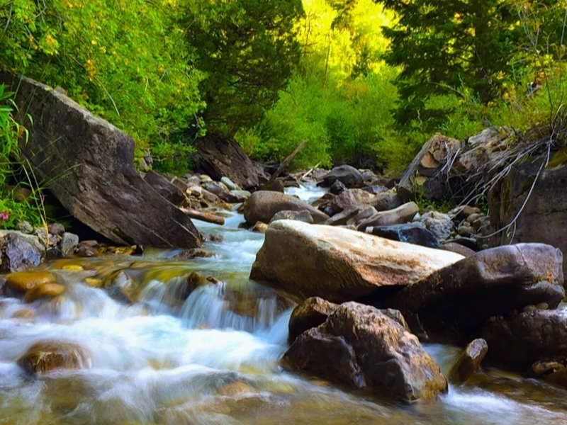 Shot of Two Elk Creek using iPhone 5s and SlowShutter. You can't miss this spot.
