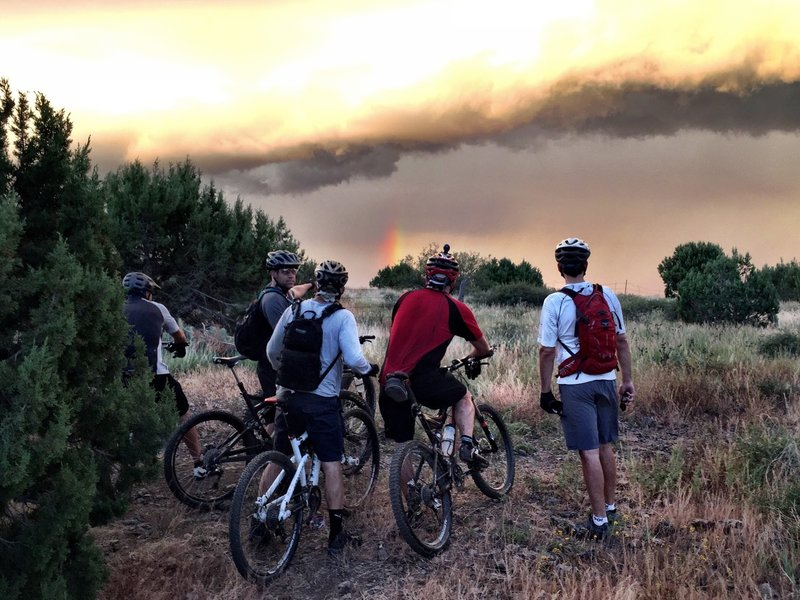 Watching a storm from Trail #347