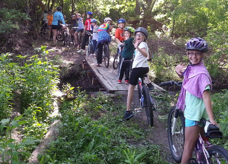 Summer youth group ride, Sechler bridge