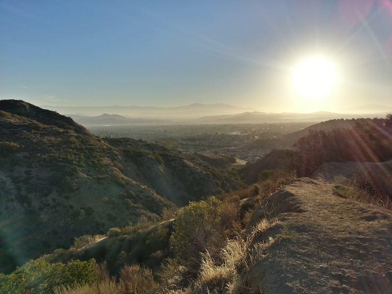 Looking east at Corona