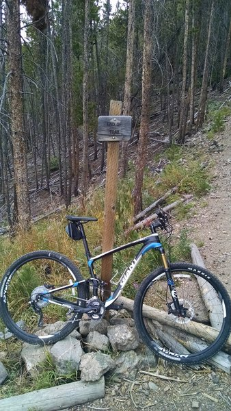 End of rideable trail, hike a bike the rest