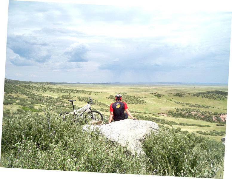 Endless prairie views