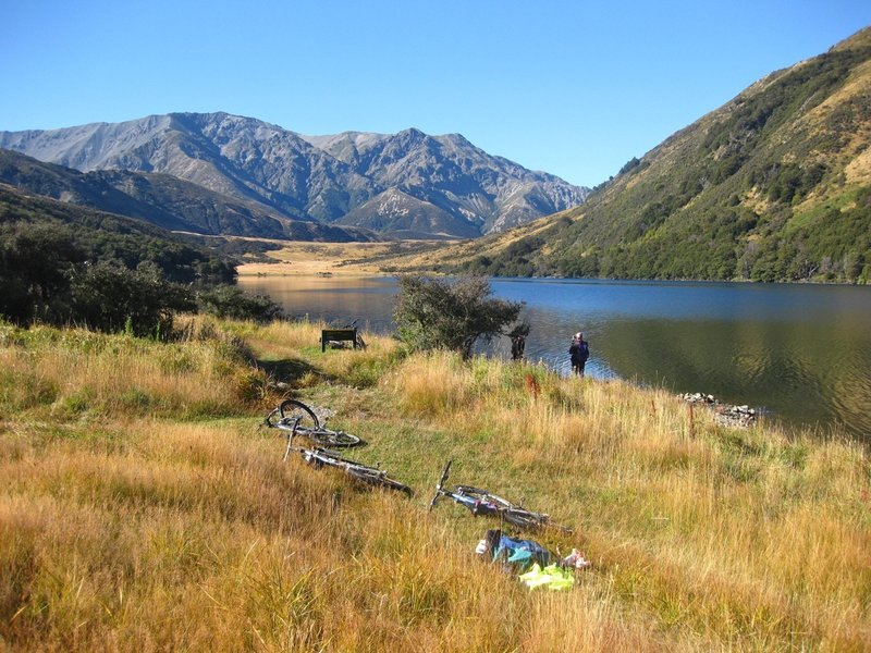 Looking up to Stanley Vale from Lake Guyon Hut.