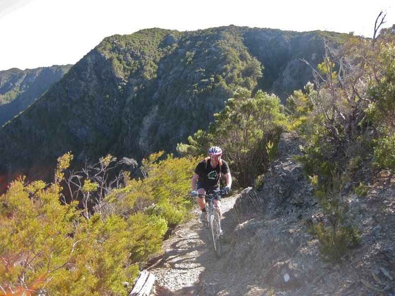 Once the Lockett Range is crested the vistas open up to the mountains of western Kahurangi National Park.