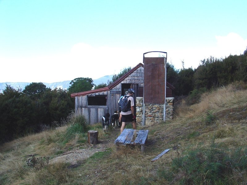 Historic Riordans Hut provides water and shelter