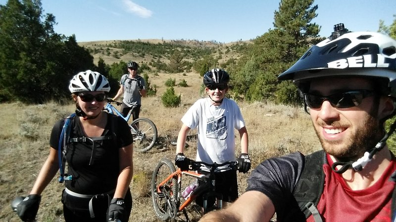 Mountain biking in Gillette, WY? Who woulda thought? Smiles all around on the Burnt Hollow trail.