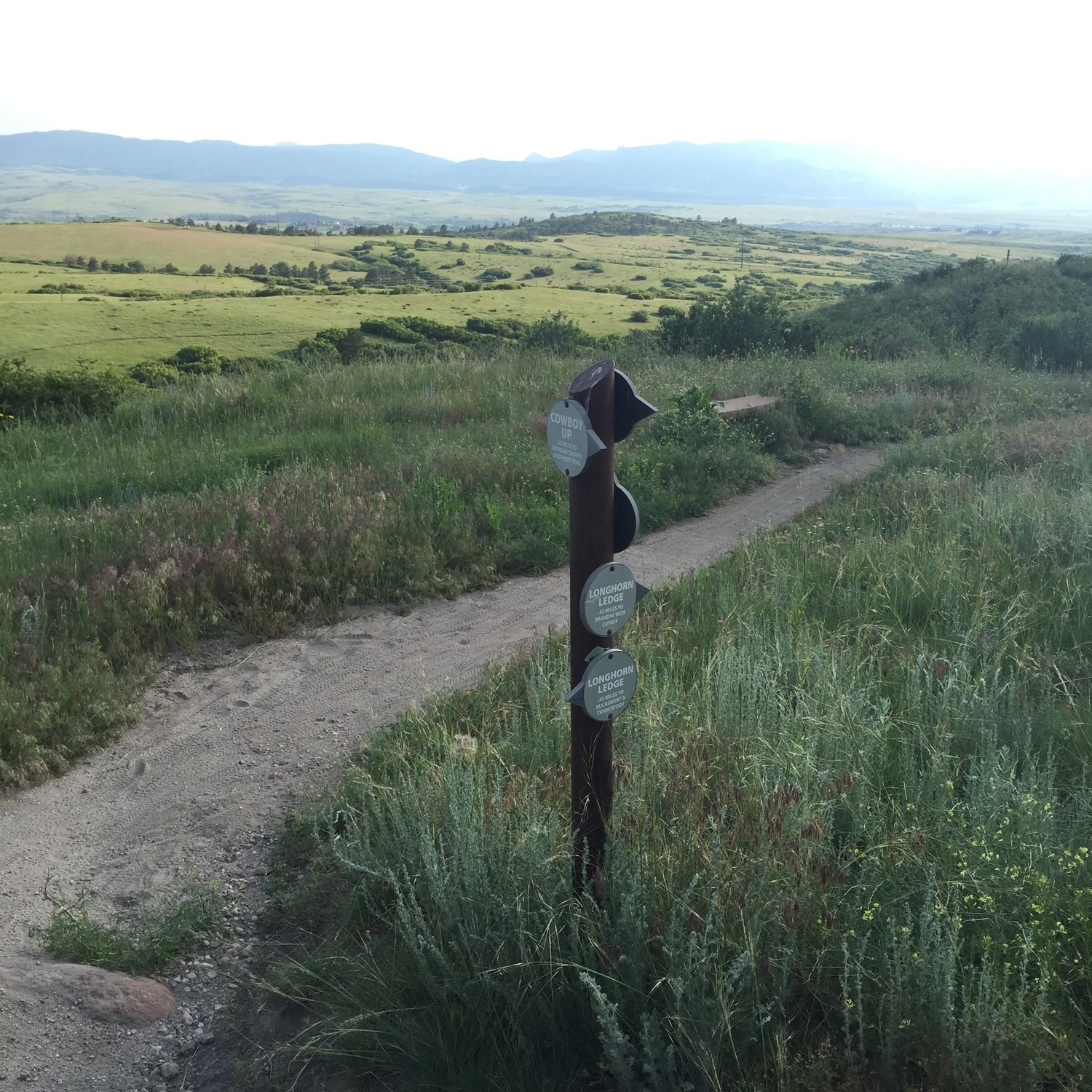Highlands Ranch Colorado Street Map 0836410: Well Marked Trail Intersections With Mileage