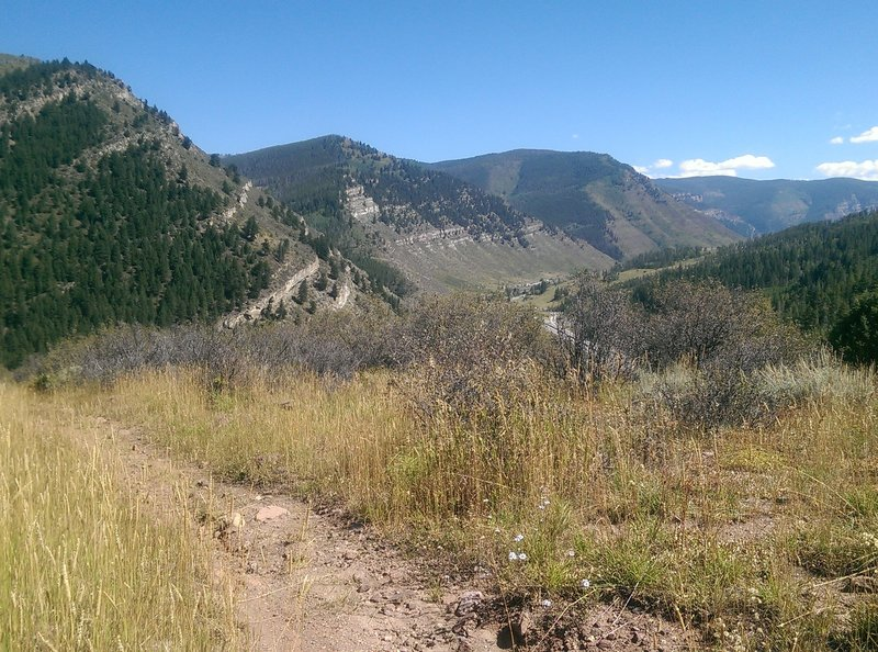 Eastern views of the amazingly striped hillsides above Minturn