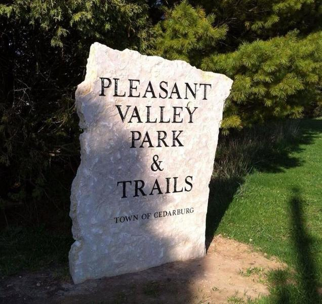 You can't miss this sign on Pleasant Valley Rd