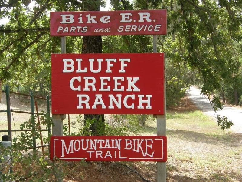The sign for Bluff Creek Ranch.