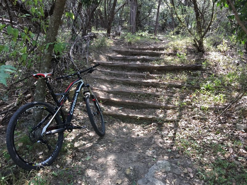 Stairs can present a hazard on the Village Trail