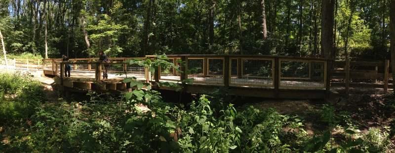 Multi-use trail bridge. created by Ball State Design/Build Class