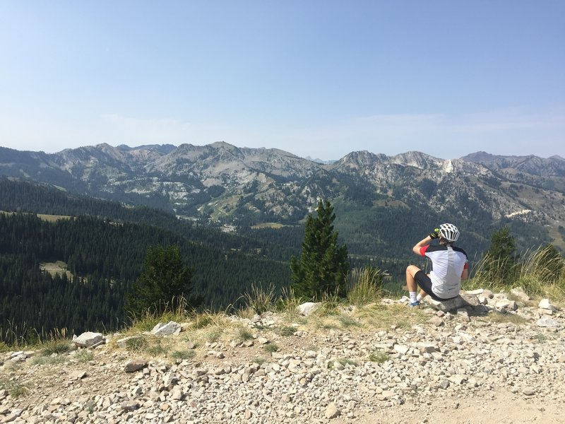 The views from the top after a brutal climb.
