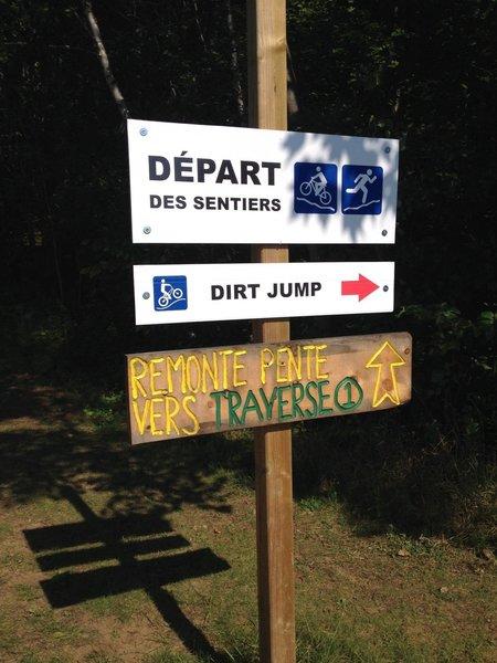 Access trail to 1-La Traverse