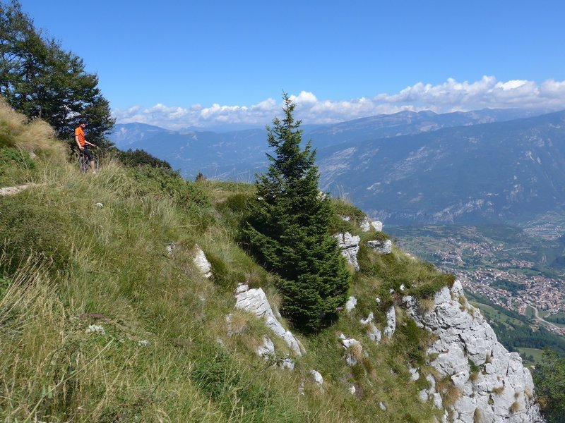 View down to Val d'Adige and the town of Rovereto.