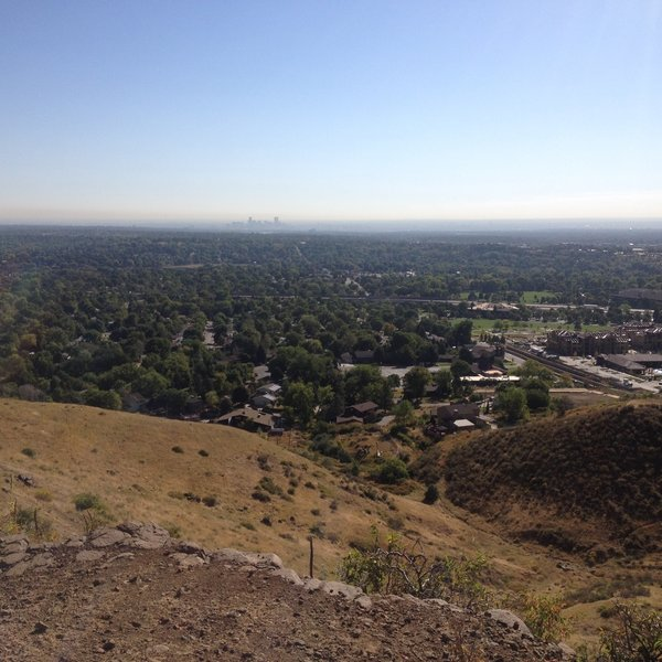 Nice view of Golden and downtown Denver in the distance