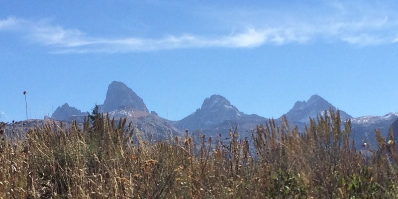 Looking at the west side of Grand Teton.