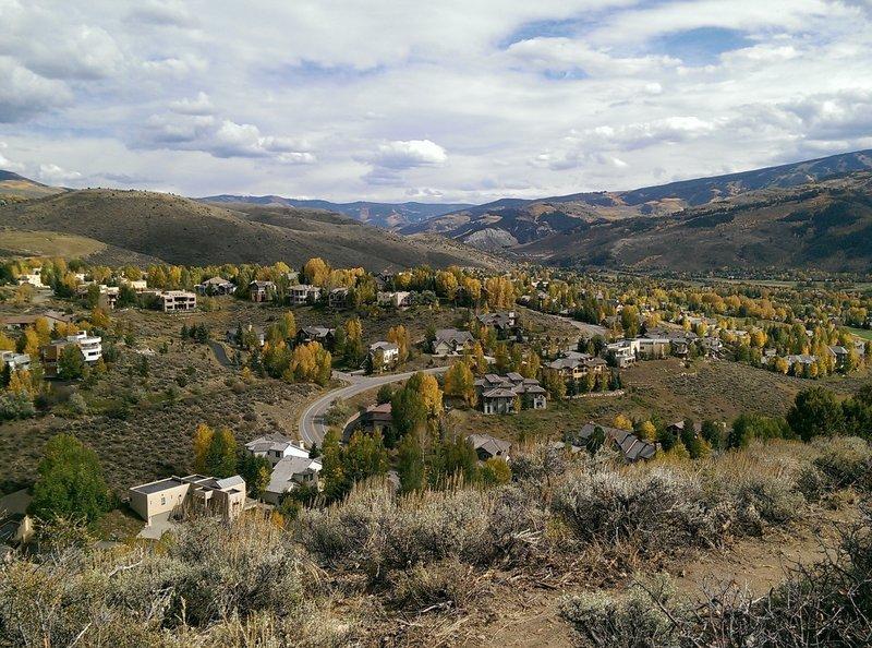 Eastward views from the ridgeline