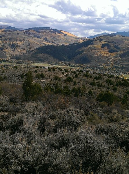The views south from the top of the Mesquite Trail
