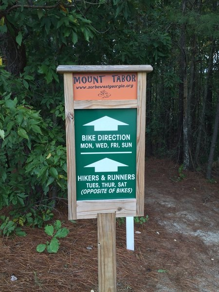 Trail direction changes daily.  Please check sign before riding.