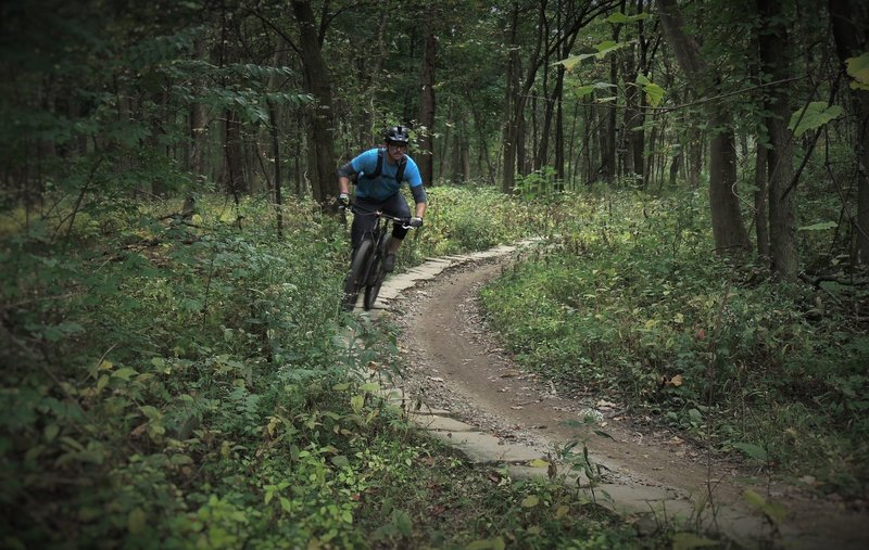 Justin Brown rides 'The Spine' on the Cemetery Hill Connector.