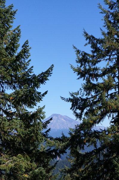Peek-a-boo views of the Three Sisters