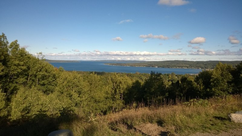 View of Lake Charlevoix from the top.  This is what makes the climb worth it!