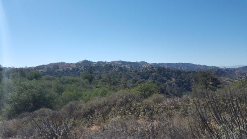 The Mountain ridge between San Fernando Valley and Santa Clarita Valley.