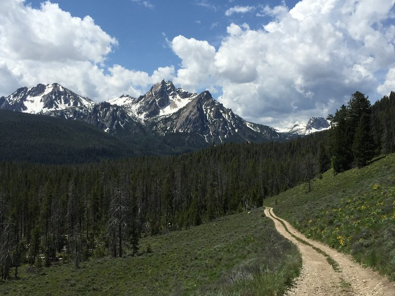 Great views of the Sawtooth Mountains