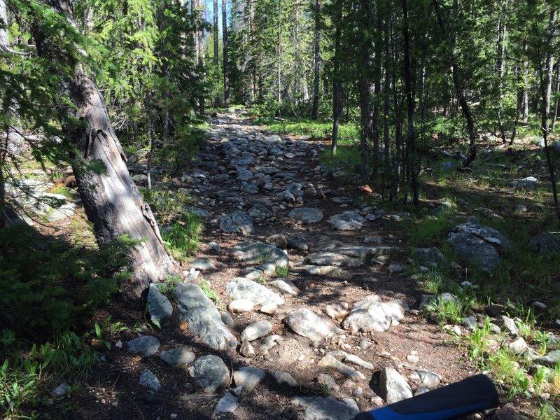 Rocky descent into Elk Meadows.