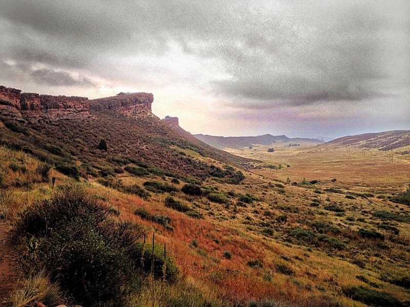 Rainy day on the Blue Sky Trail.
