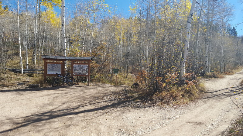Main intersection of Smuggler's Trail, the Smuggler Mountain road and the BTS trail